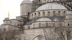 Close up of Blue Mosque, Sultanahmet, Istanbul, tilt, slow motion Stock Footage