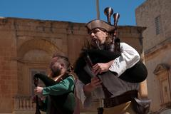Medieval Mdina festival Stock Photos