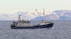 Old Commercial Fishing Boat Stock Footage