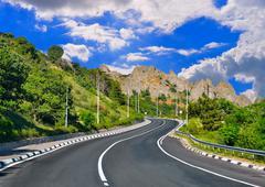 Mountain highway Stock Photos