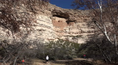 Sedona Arizona Montezuma Castle couple hike trail 4K 008 Stock Footage