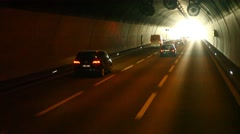 Tunnel journey in Verna Bulgaria Stock Footage