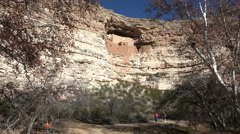 Sedona Arizona Montezuma Castle mature handicap couple hike 4K 009 Stock Footage