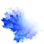 Blue watercolor abstraction Stock Illustration