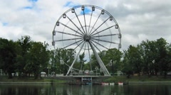 "Kaliningrad. The Ferris wheel in the Park ""Youth"", timelapse Stock Footage"