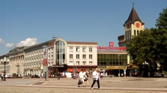 Victory square in Kaliningrad, timelapse Stock Footage