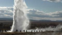 Eruption of a Geyser, Iceland Stock Footage