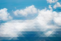 Clouds and blue sky - creative mosaic - stock illustration