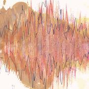 Colorful waveform Stock Illustration