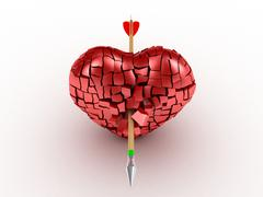 Broken Heart - stock illustration
