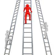 Ladder Rivalry - stock illustration