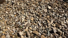 Closeup shot of Raw stones Stock Footage