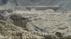 Zoom out from moonland landscape,Lamayuru,Ladakh,India Stock Footage