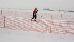 Skijoring competitions Stock Footage