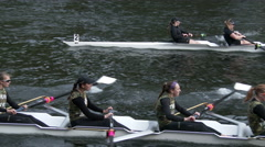 Row, Rowing, Crew, Shell, Regatta, 4K Stock Footage