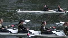 Row, Rowing, Crew, Shell, Regatta, 4K Stock Footage