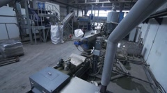 Recycling facility waste Stock Footage
