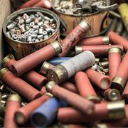 old material to reload ammunition - stock photo