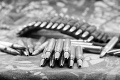 Ammunitions for rifle Stock Photos