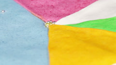 Multi-colored cake - stock footage