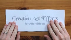Creation Art Effects Stock After Effects