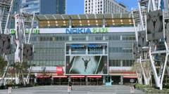 4K, UHD, Nokia Theatre Center LA LIVE in Los Angeles, California Stock Footage