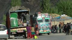 Unloading provision from truck,Lamayuru,Ladakh,India Stock Footage