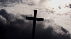 Christian Cross Phoenix Park Stock Footage