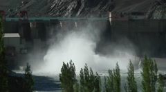 Close-up view of Dam,Alchi,Ladakh,India Stock Footage