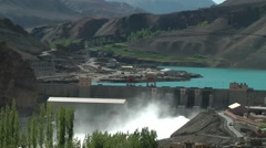 Alchi dam and power plant,Alchi,Ladakh,India Stock Footage
