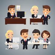 Businessmen at the Table Teamwork Stock Illustration