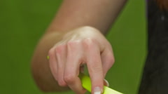 Hand with spoon close up cooking Stock Footage