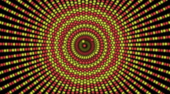 Loopable cyclic animated kaleidoscopic spiral-63A26d-n - stock footage