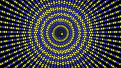 Loopable cyclic animated kaleidoscopic spiral-63A27a-n - stock footage