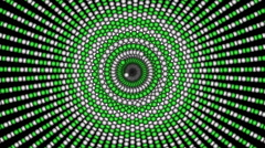 Green Loopable cyclic animated kaleidoscopic spiral-63A28c-n - stock footage