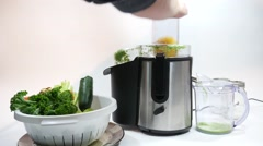 Juicing, Juicer, Juice Extractor - stock footage