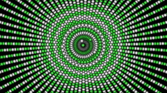 Green Loopable cyclic animated kaleidoscopic spiral-63A28d-n - stock footage