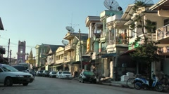 Street,Hpa-An,Burma Stock Footage