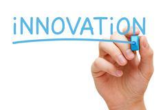 Innovation Blue Marker - stock photo