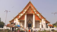 Viharn Phra Mongkhon Bophit at the Ayutthaya Park in Thailand Stock Footage