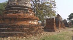 Wat Phra Sri Sanphet at the Ayutthaya Park in Thailand - stock footage