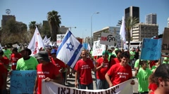 Farmers demonstrate against the state of agriculture in Israel - stock footage