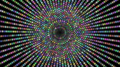 Loopable cyclic animated kaleidoscopic spiral-63A36c-n - stock footage