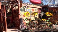 Sedona Arizona tourist market crafts pan 4K 005 Stock Footage