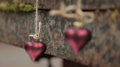 Two hearts hang Stock Footage