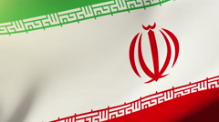 Iran flag waving in the wind. Looping sun rises style.  Animation loop Stock Footage