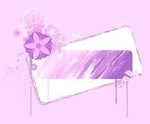 Banner painted pink paint Stock Illustration