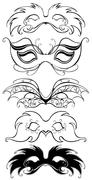 Black carnival masks Stock Illustration