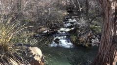 Sedona Arizona Verde River beautiful forest waterfall 4K 013 Stock Footage