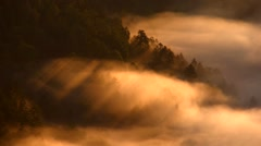 Fog at Lake Kussharo, Hokkaido Japan Stock Footage